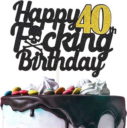 Fabulous Amazon Com Happy 40Th Birthday Cake Topper Handmade Birthday Gift Personalised Birthday Cards Cominlily Jamesorg