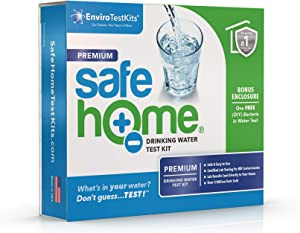 Safe Home PREMIUM Drinking Water Test Kit – Our #1 Selling Kit for Testing CITY & WELL WATER – 50 Contaminants Tested at Our EPA Certified Laboratory – Don't Guess…TEST!