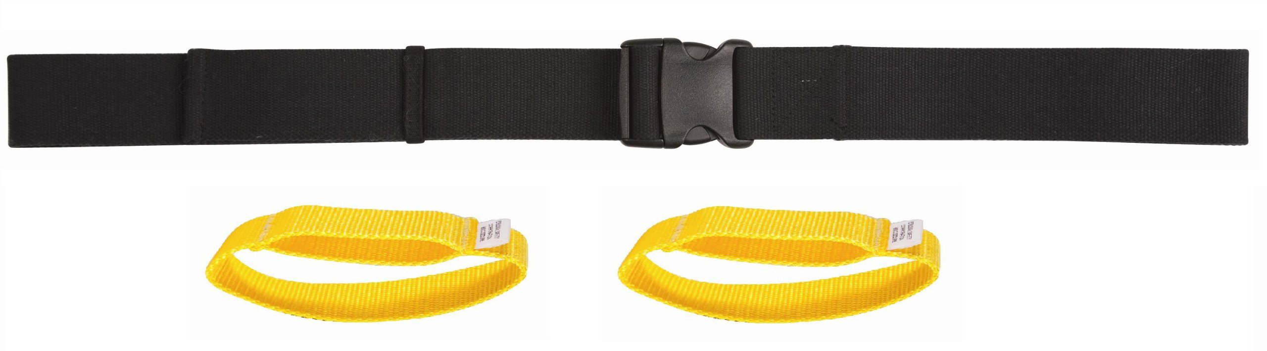 Secure Transfer Gait Belt with Easy Release Buckle and Detachable Hand Loops and, Black, 60 Inch Length by Secure