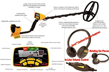 Detector de metales GARRETT EuroAce. Incluye: mochila, Prot plato, Prot lluvia, auriculares, gorra y Pico/pala plegable: Amazon.es: Jardín