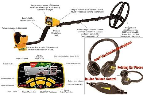 Detector de metales GARRETT EuroAce. Incluye: mochila, Prot plato, Prot lluvia,