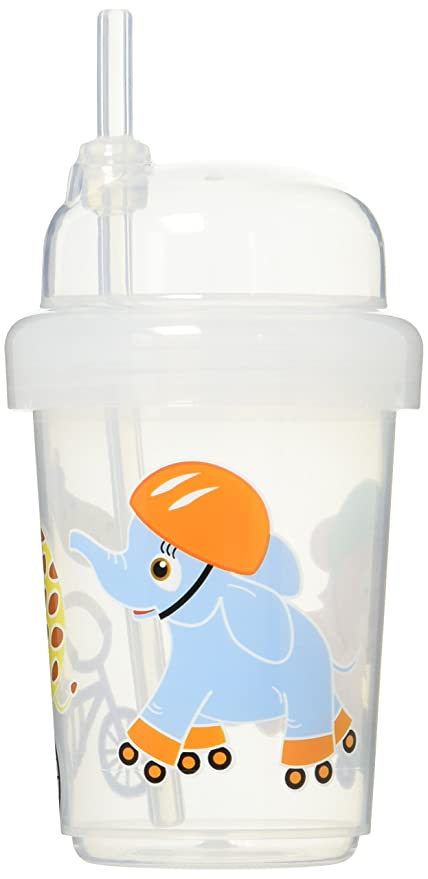 Safari Animals Style nuspin kids 8 oz Zoomi Straw Sippy Cup