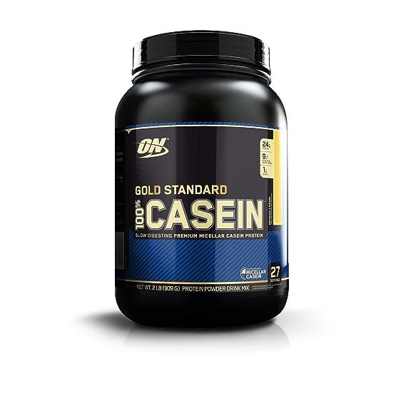 Optimum Nutrition (ON) Gold Standard 100% Casein Protein Powder - 2 lbs, 909 g (Strawberry) Casein Proteins at amazon