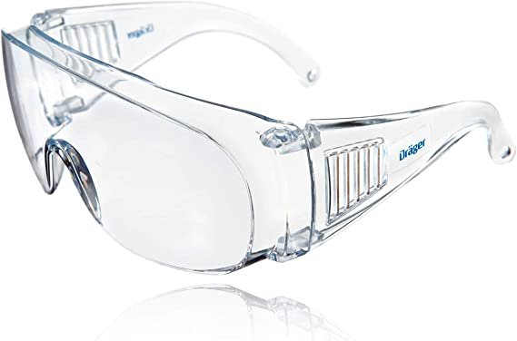 2 Stück Schutzbrille Vollsichtbrille Überbrille Schleifbrille für Brillenträger