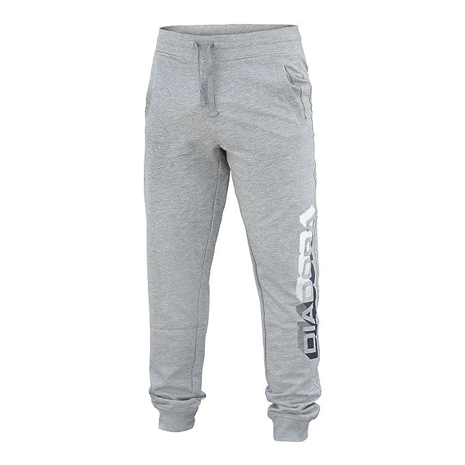 Pantalone Tuta Uomo DIADORA Cotone Garzato Art.633 ( Light Middle Grey  Melange - XL a8f5496af87