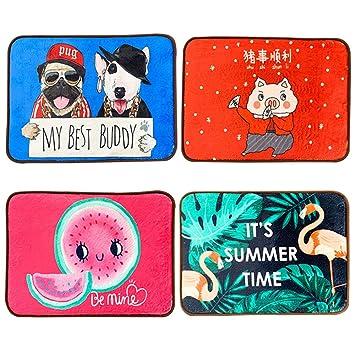 OTENGD 4PACK Pet Cama Perro de enfriamiento Mat Rattan Pad Accesorios para Ayudar a su Mascota