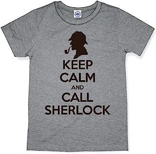 product image for Hank Player U.S.A. Keep Calm & Call Sherlock Men's T-Shirt