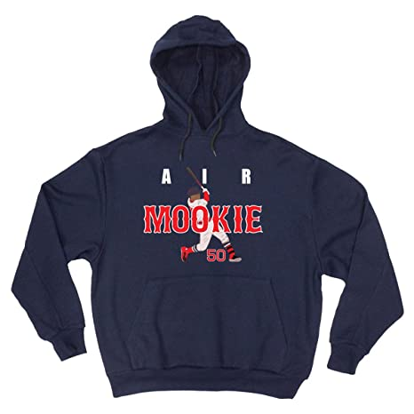 ba0a5dadfcd78 Amazon.com : JM Shirts NAVY Mookie Boston Air Pic Hooded Sweatshirt ...