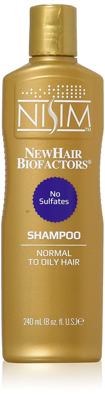NISIM Normal To Oily Shampoo 8Oz/240Ml - No Sulfates, Parabens, Dea - Hair Loss Reduction In 1 Week, 240 Milliliters SU2200