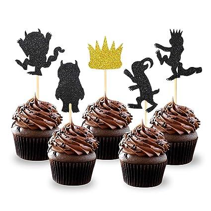 Amazon.com: Decoración para cupcakes con diseño de las cosas ...