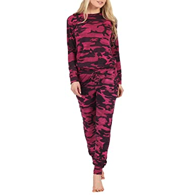 81ce5c5870eac Miss Posh Boutique Women Military Inspired Camouflage Print 2 Pieces  Tracksuit Jogging Lounge Suit-WineCamouflage-S/M: Amazon.co.uk: Clothing