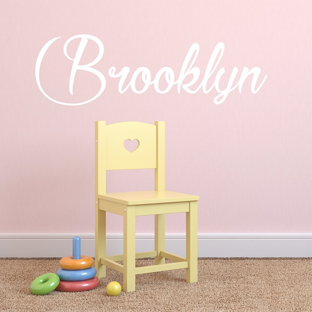 Amazon.com: Fancy Cursive Single Personalized Custom Name Vinyl Wall ...