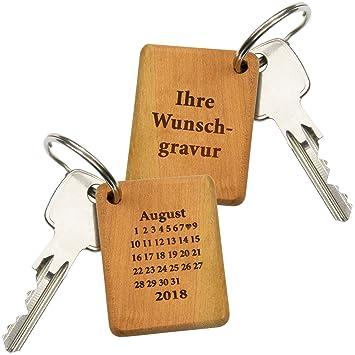 0bafdf8469b8dd Schlüsselanhänger Schönster Tag (mit Wunschtext): Schlüsselring mit Gravur  für die Freundin – personalisiert
