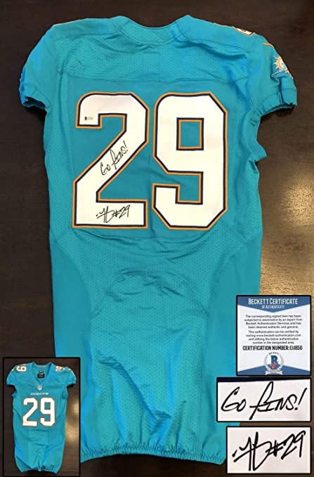 timeless design 508c8 32043 Miami Dolphins Minkah Fitzpatrick Autographed Signed Game ...