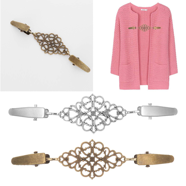 1Pcs Women Cardigan Sweater Blouse Pin Shawl Brooch Clips Shirt Collar Retro Duck Clip Winter Scarf Clasps