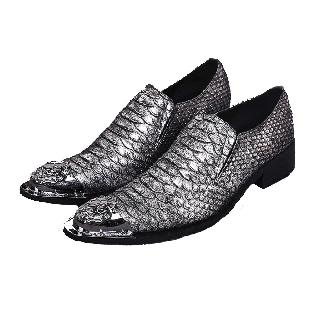 2 Color Size 5-12 New Alligator Print Genuine Leather Dress Loafers Mens Shoes
