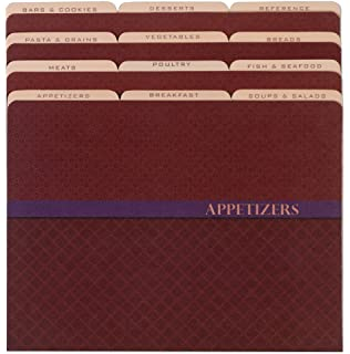 Meadowsweet Kitchens Recipe Organizer File Folder Set - Miniprint