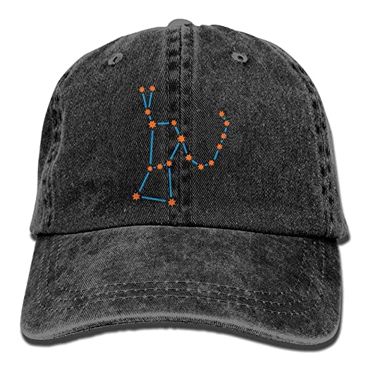 52866a9d96a Image Unavailable. Image not available for. Color  Orion Star Constellation  Denim Hat Adjustable Female Mini Baseball Caps