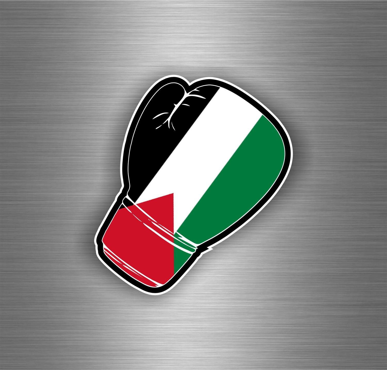 Akachafactory Autocollant Sticker Voiture Moto Gant Boxe Drapeau JDM Palestine palestinien r2