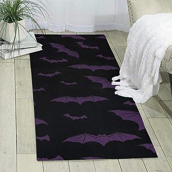 Amazon Com Kjaoi Carpet 70 X 24 X 6mm Purple Bat Modern Area Rug For Bedroom Living Room Floor Home Decor Furniture Decor
