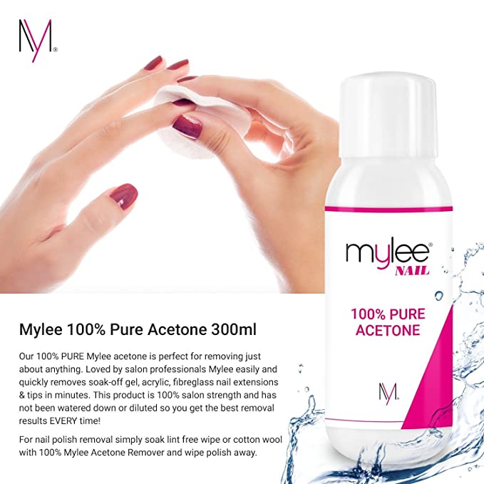 Mylee 100 pure acetone 300ml superior quality nail polish remover mylee 100 pure acetone 300ml superior quality nail polish remover uvled gel soak off amazon beauty solutioingenieria Images