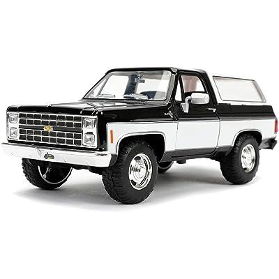 1980 Chevrolet Blazer K5 Black and White Just Trucks 1/24 Diecast Model Car by Jada 31592 MJ: Toys & Games
