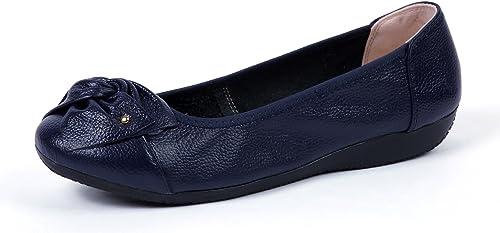 VenusCelia Womens Bows Dance Flat Shoe