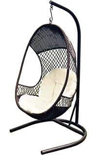 Delicieux Alpine Metal Woven Egg Shaped Stylish Swing Chair With Stand And Cushions