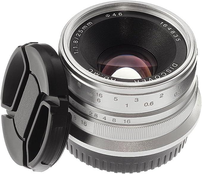Hersmay 25mm F 1 8 Manueller Fokus Mf Objektiv Für Kamera