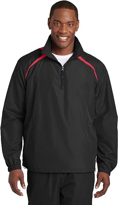 Sport-Tek Mens 1//2 Zip Wind Shirt