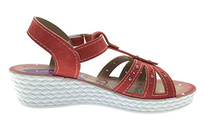 Lora Dora Kids Girls Summer Sandals Strappy Low Wedge Party Shoes Flower T  Bar Size UK 7-2.5: Amazon.co.uk: Shoes & Bags