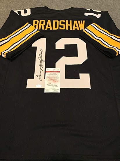 low priced 059c9 3b467 TERRY BRADSHAW AUTOGRAPHED SIGNED PITTSBURGH STEELERS JERSEY ...