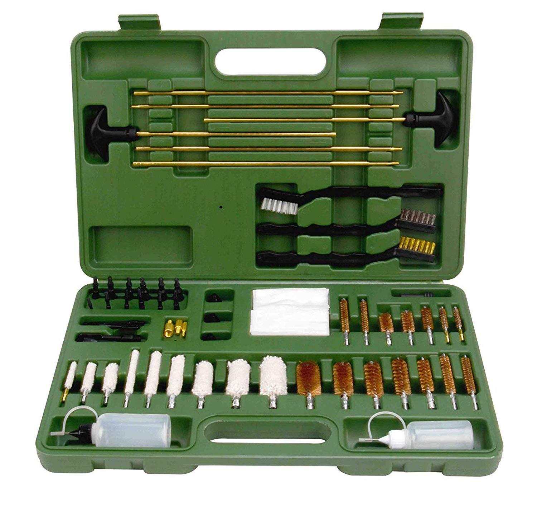 FIREGEAR Universal Gun Cleaning Kit for Hunting Shooting Rifle Handgun Shot Gun Cleaning Kit for All Guns with Case, Green4 by FIREGEAR