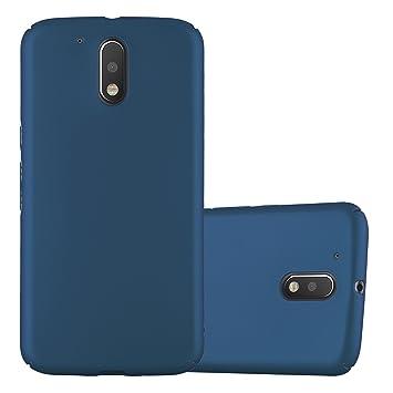 Cadorabo Funda para Motorola Moto G4 / Moto G4 Plus en Metal Azul - Cubierta Protección de Plástico Duro Super Delgada e Inflexible con Antichoque - ...