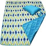 Waterproof Beach Blanket Water Resistant Picnic Blanket Camping Blanket Emergency Blanket Tote Mat Park Mat Outdoor Blanket 60 x 50 Inches