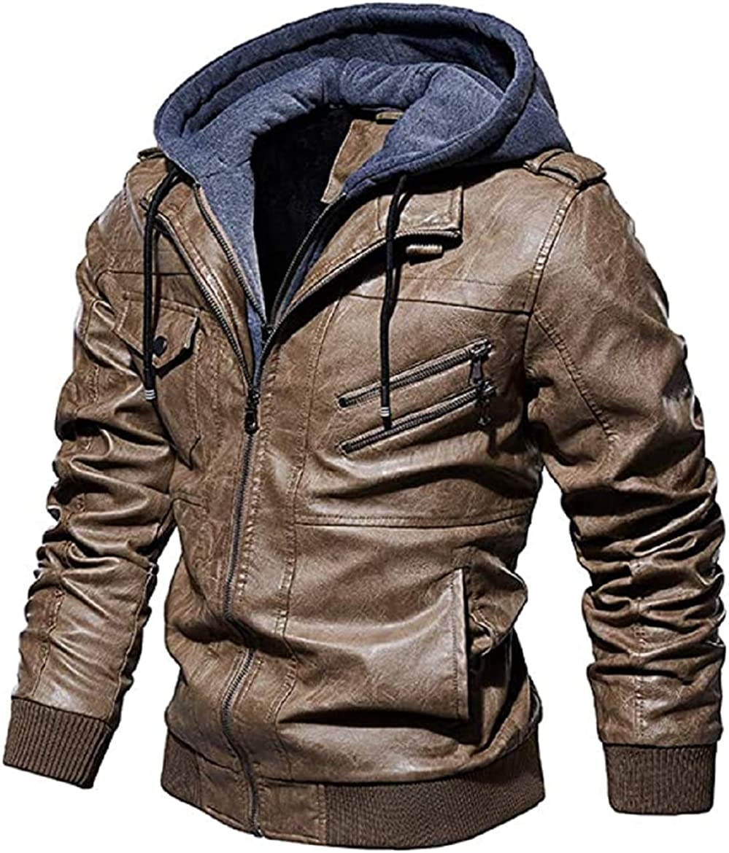 BA Design Leather Motorcycle Jacket Hoodie Zipper Fashion Vintage Casual Outdoor Windbreaker Jacket Coat