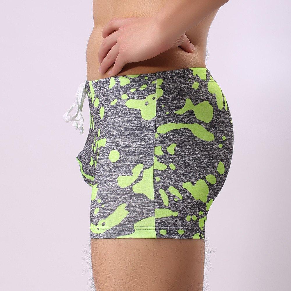 Fxbar,Men/'s Tight Lifting Shorts Comfortable Sport Bikini Briefs Swim Trunks Bathing Suit