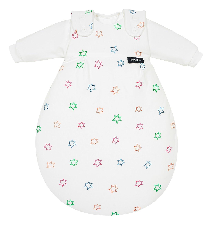 Alvi Baby M/äxchen Original Alvi Au/ßensack /& zwei Innens/äcke Gr/ö/ße:50//56 Babyschlafsack 3-teilig Design:Bunter Stern 583-0 Kinderschlafsack mitwachsend /& atmungsaktiv