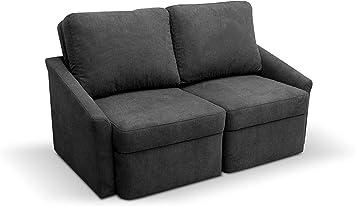 Domo Collection Relax Boxspringsofa 2er Sofa Mit Boxspring Und Schlaffunktion Dauerschlafer Couch Furs Gastezimmer Masse 168 96 86 Cm B T H Farbe Dunkelgrau Grau Amazon De Kuche Haushalt