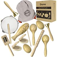 Ehome Toddler Musical Instruments, Natural Wood Percussion Instruments Toy for Kids Preschool Educational, Musical Toys…