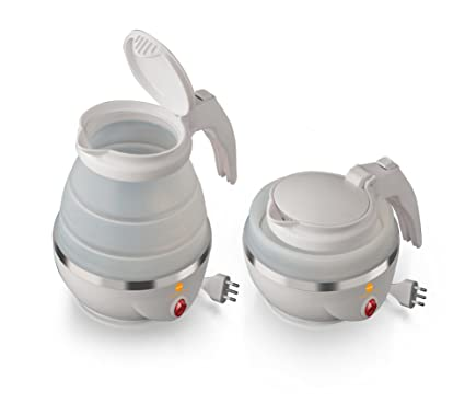 Macom Just Kitchen 862/Space Kettle blanco plegable de viaje hervidor el/éctrico compacto