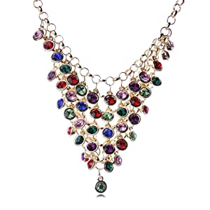 Tassels Diamond Explosion models exaggeration fashion retro false collar necklace