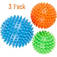 Deep Tissue Spiky Massage Balls Muscle Recovery, Reflexology and Stress Relief 3 Pack
