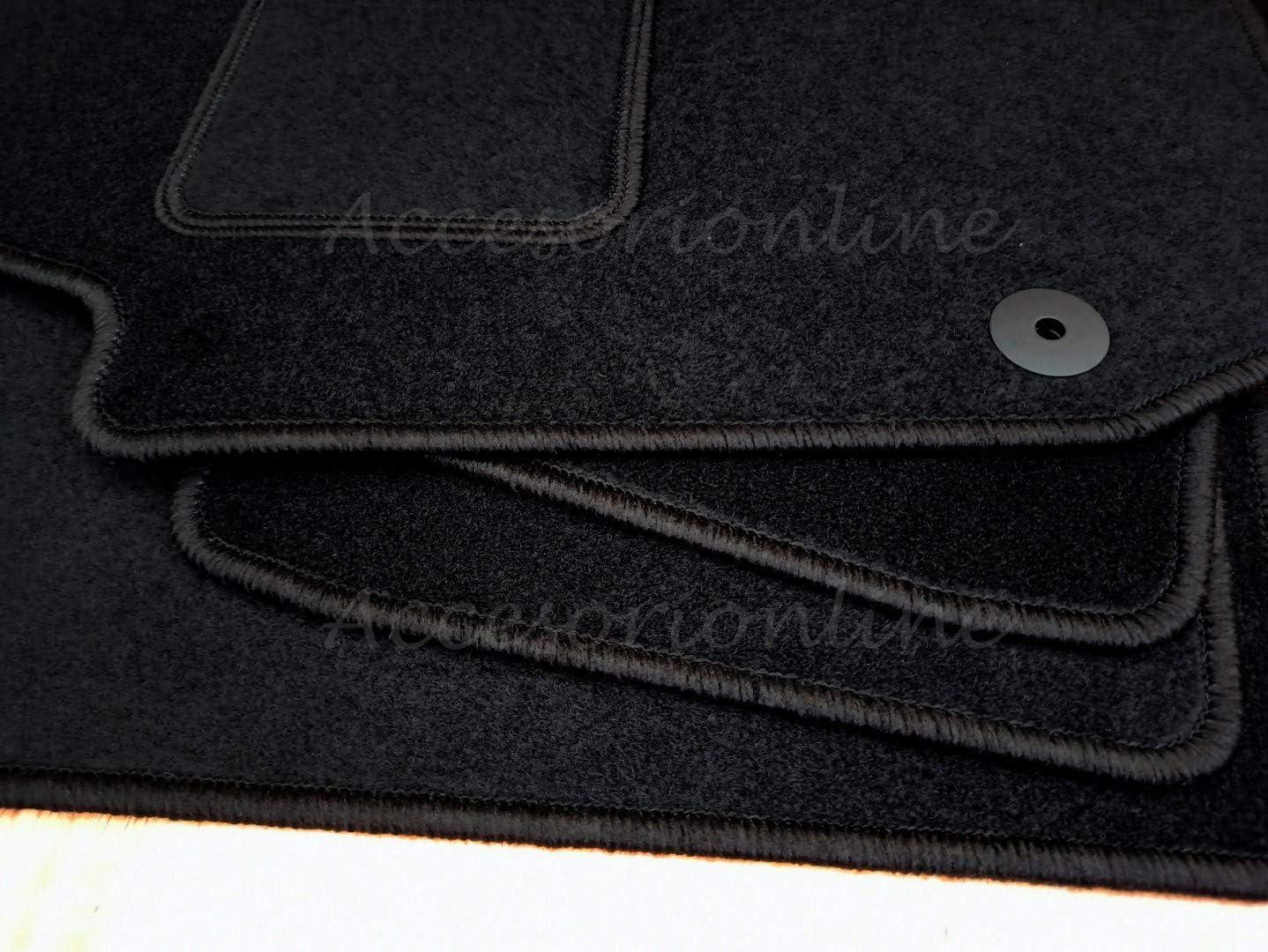 Accesorionline Alfombrillas para Mazda 3 Todos los Modelos A Medida con talonera Alfombras esterillas (Mazda 3 (2009-2013))