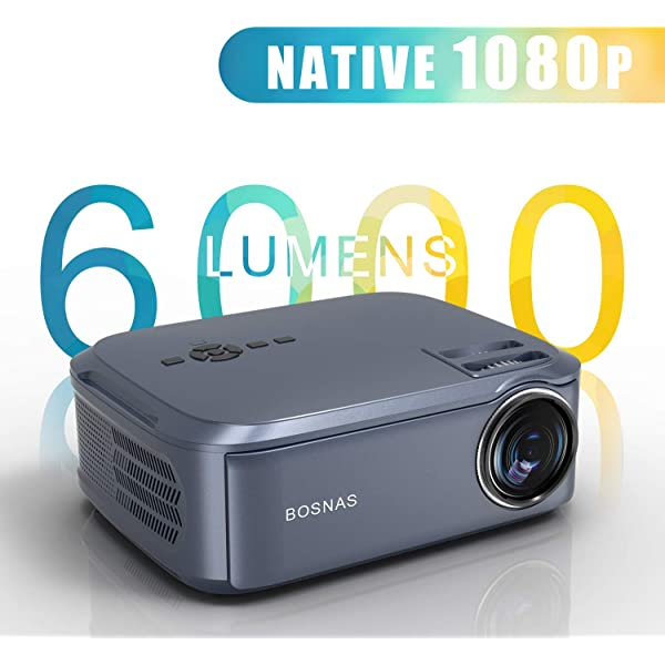 Proyector Cine en Casa, Native 1080P LED Video Proyector Full HD ...