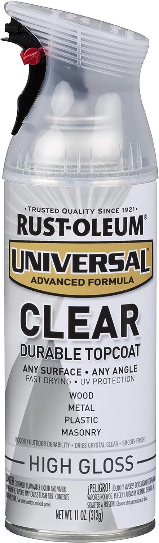 Rust-Oleum 302110 Universal Spray Paint, High Gloss Clear