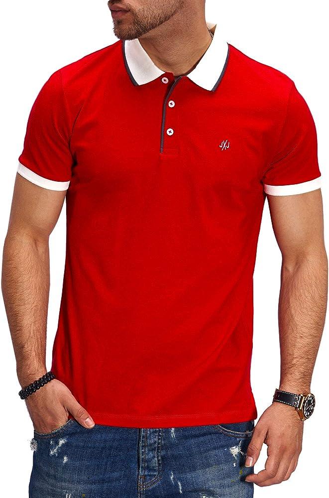 Jack & Jones Polo para Hombre Camiseta Camisa Manga Corta Unicolor (S, Tango Red): Amazon.es: Ropa y accesorios