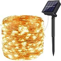 Guirnalda Luces Exterior Solar,DeepDream 200LED 20m 8 Modos Cadena de Luces de Alambre de Cobre,Guirnaldas luminosas…