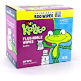 Kandoo Flushable Wipes for Babies and Kids 10X Refill + Tub - Sensitive