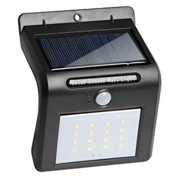 TRIXES Sensor Movimiento a Energía Solar - 16 LED - Luz de Seguridad para Jardín,